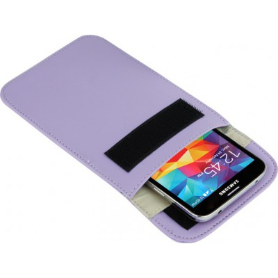 Jammer Accessories Protective anti-radiation bag. Signal blocking case pouch for smartphones. Purple color