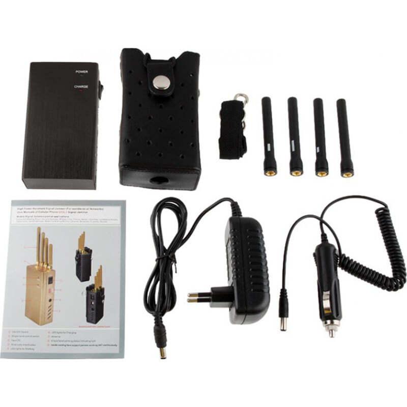 手机干扰器 高功率便携式信号阻断器 3G Portable 15m