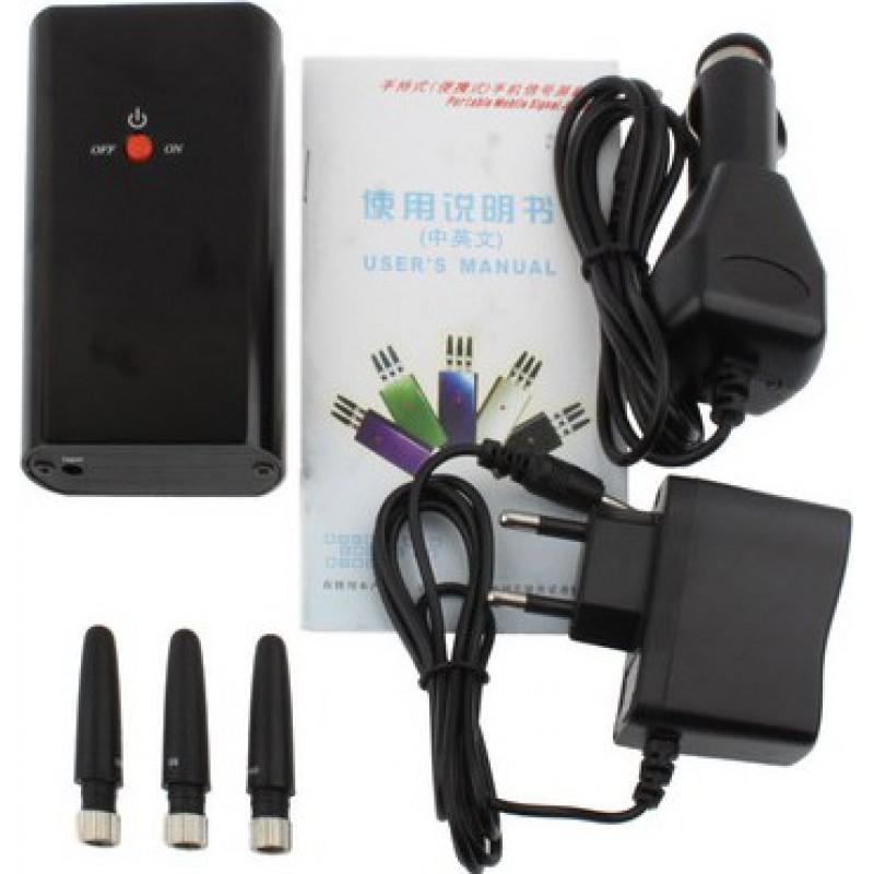 Bloqueurs de Téléphones Mobiles Bloqueur de signal portable. Couleur noire GSM Portable 15m