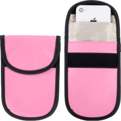 Jammer Accessories Protective anti-radiation bag. Signal blocking case pouch for smartphones. Pink color