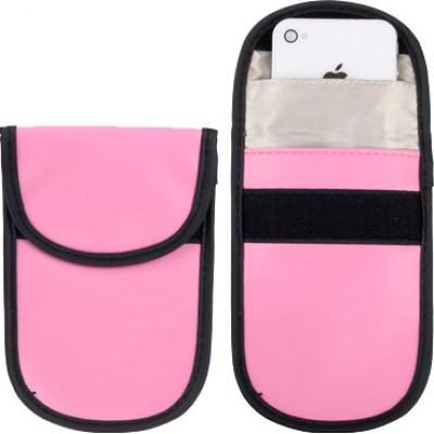 ジャマーアクセサリー 保護放射線バッグ。スマートフォン用の信号遮断ケースポーチ。ピンク色