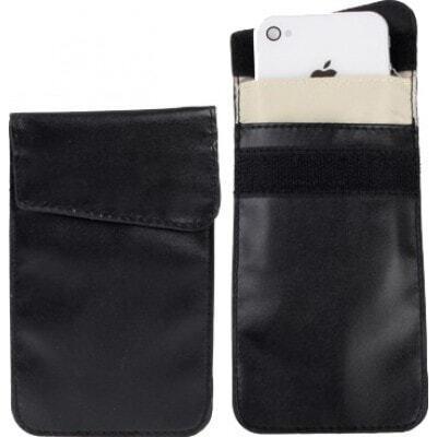 ジャマーアクセサリー 保護放射線バッグ。スマートフォン用の信号遮断ケースポーチ。黒色