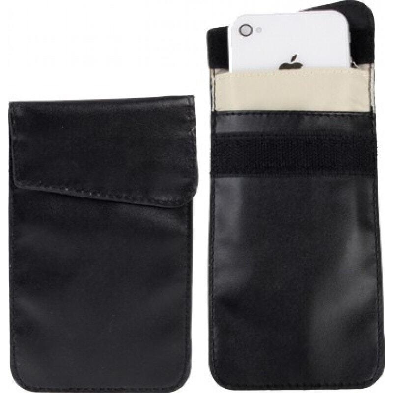 干扰器配件 防护防辐射袋。用于智能手机的信号阻挡盒。黑色