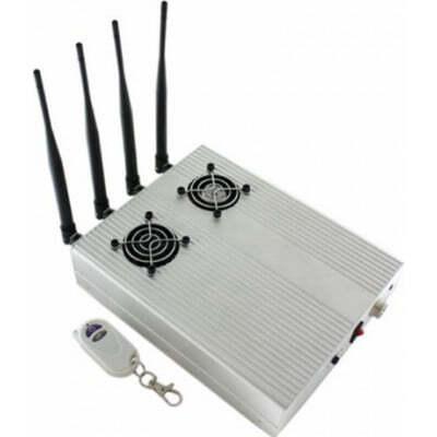 Cell Phone Jammers High power desktop signal blocker with 2 cooler fans GSM Desktop
