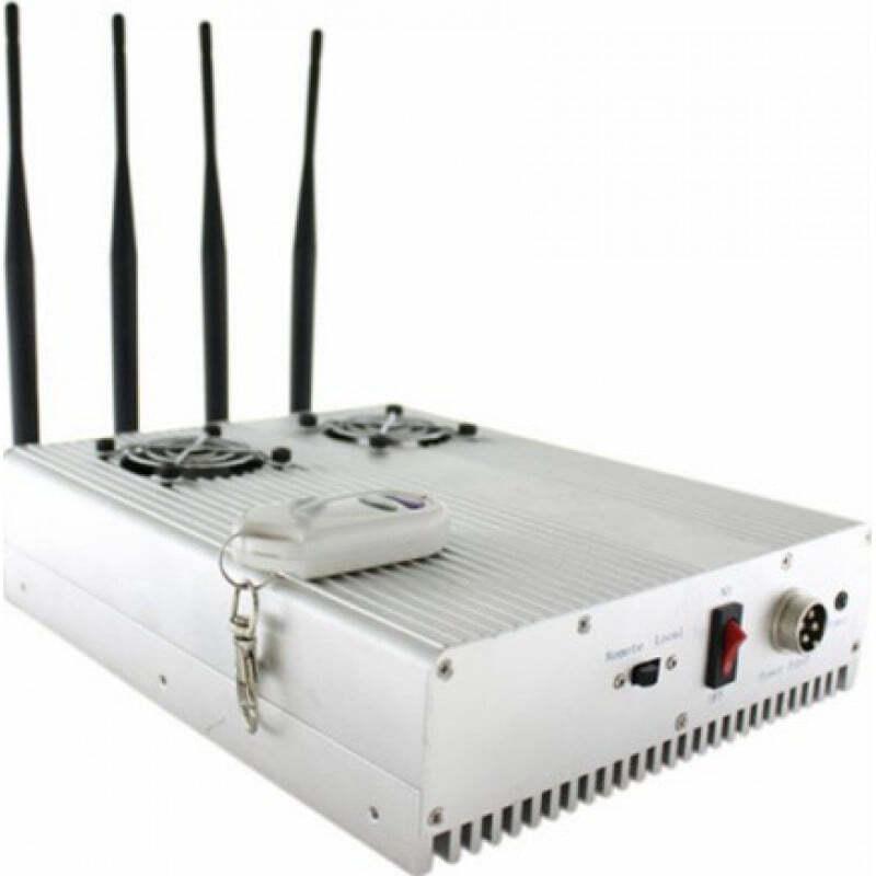 手机干扰器 高功率桌面信号拦截器,带2个冷却风扇 GSM Desktop