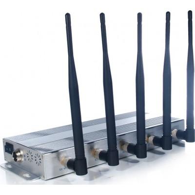 129,95 € 免费送货 | 手机干扰器 桌面信号拦截器。 5天线 3G Desktop