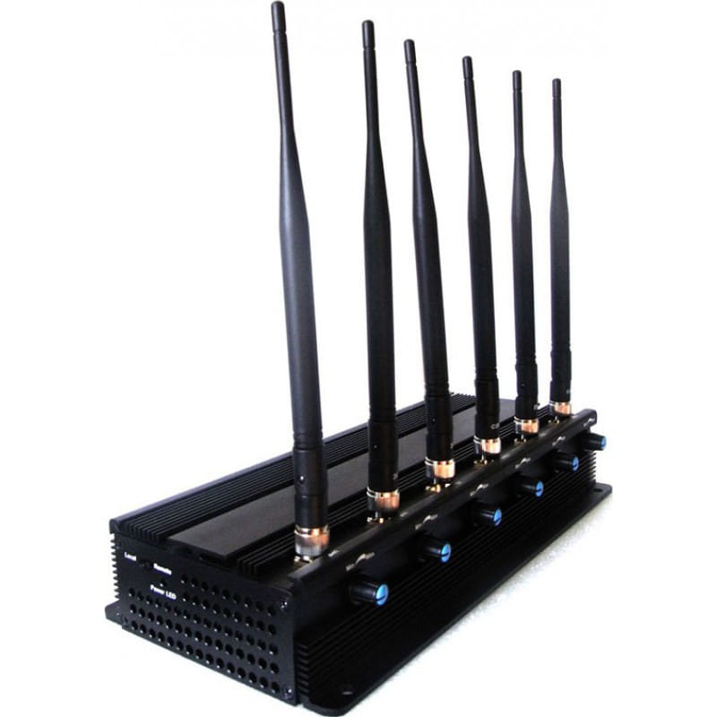 259,95 € Free Shipping | Cell Phone Jammers Powerful signal blocker. 6 Antennas. Adjustable 3G