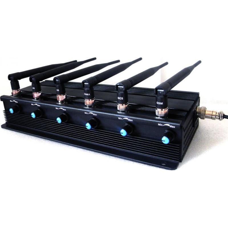 259,95 € Envoi gratuit | Bloqueurs de Téléphones Mobiles Puissant bloqueur de signal. 6 antennes. Ajustable 3G