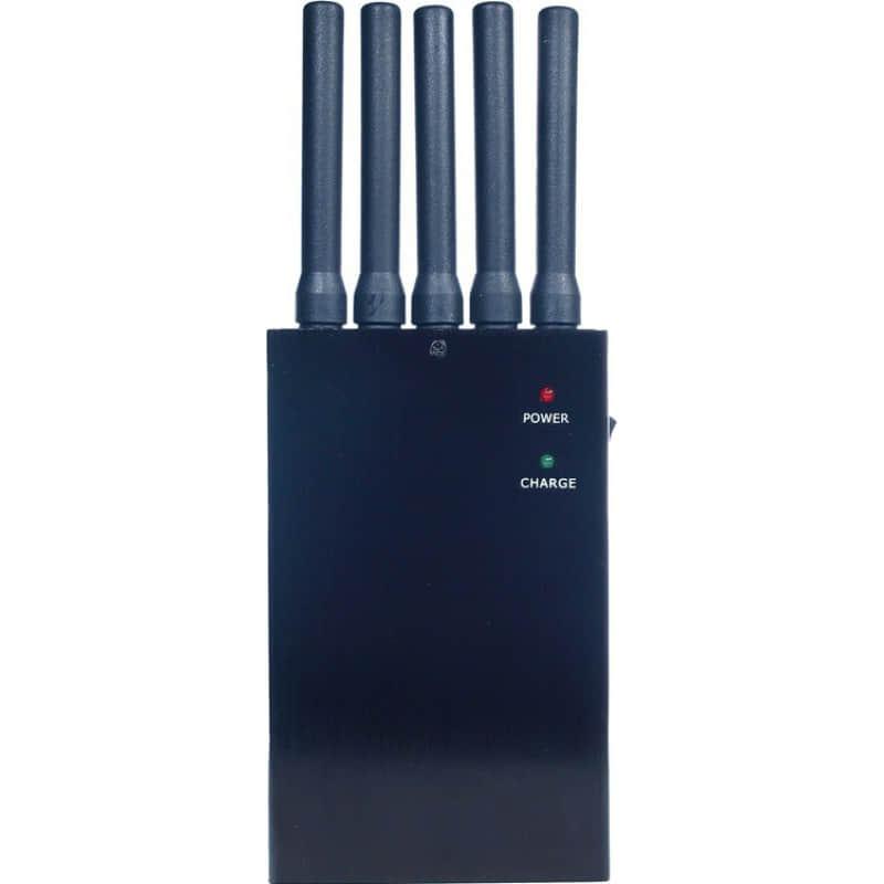 Блокаторы мобильных телефонов Портативный блокиратор всех частот. 5 антенн 3G Portable