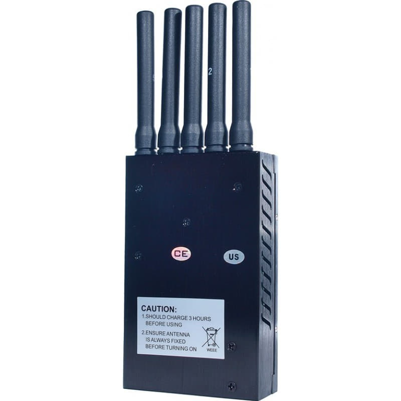 Cell Phone Jammers Portable all frequency signal blocker. 5 Antennas 3G Portable