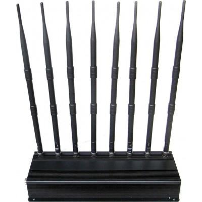 WiFi干扰器 桌面信号拦截器。 8个乐队 VHF Desktop