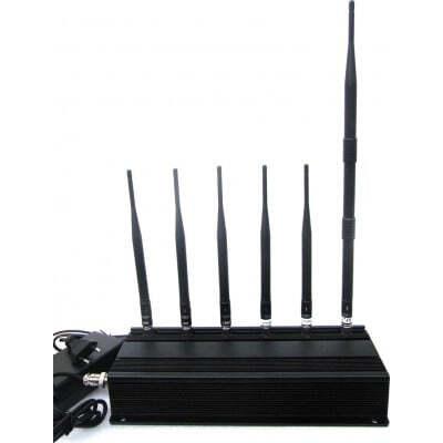 265,95 € 免费送货 | 手机干扰器 6天线信号阻断器 GSM