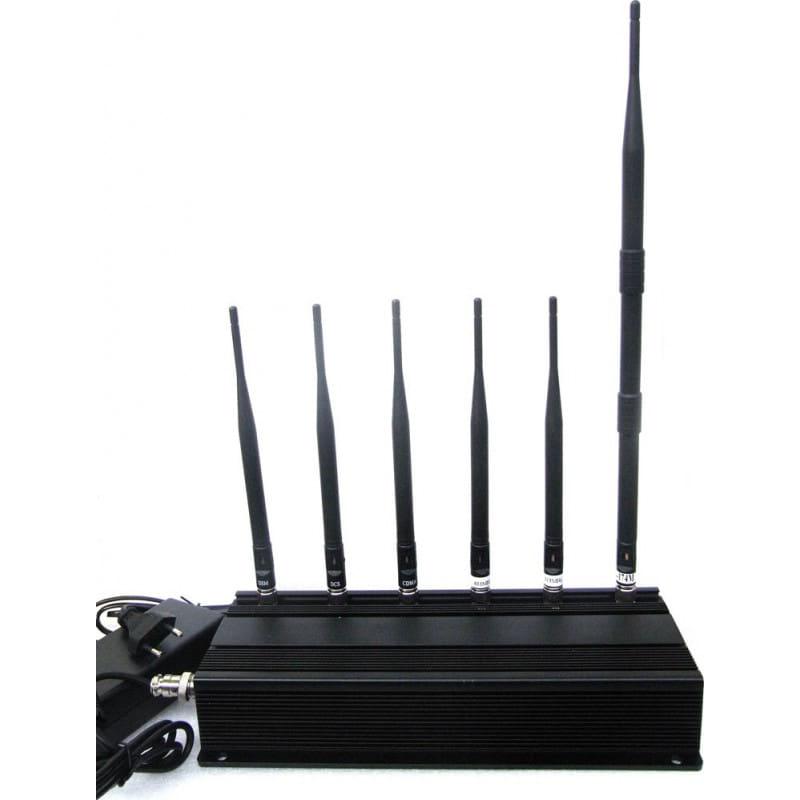 265,95 € Envío gratis | Bloqueadores de Teléfono Móvil bloqueador de señal de 6 antenas GSM