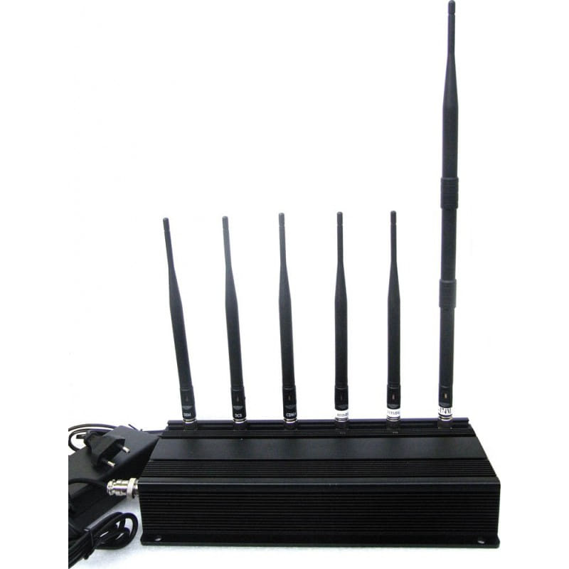 265,95 € Free Shipping   Cell Phone Jammers 6 Antennas signal blocker GSM