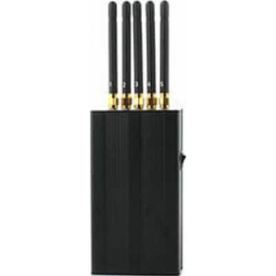 5 antennes. Bloqueur de signal portable