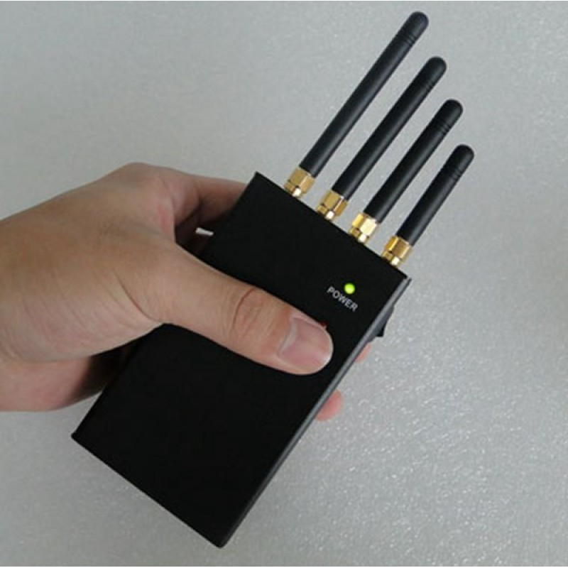 135,95 € 免费送货 | 手机干扰器 高功率手持便携式信号阻断器。全球网络 Handheld
