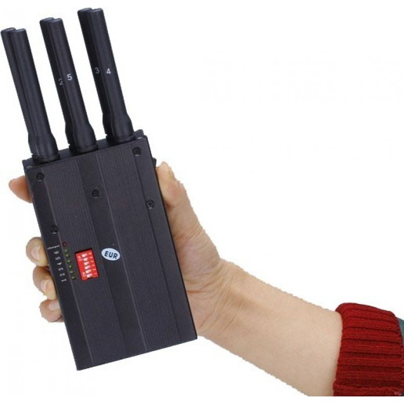 172,95 € Free Shipping | Cell Phone Jammers Handheld signal blocker. 6 Bands 3G Handheld