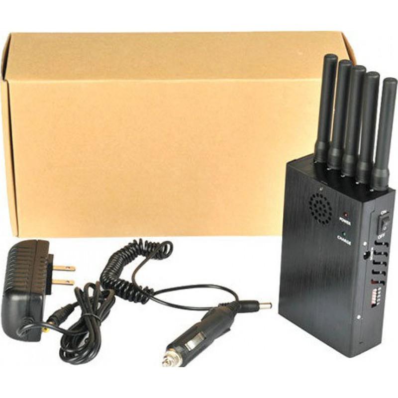 135,95 € 免费送货 | 手机干扰器 全频便携式信号拦截器。 5强大的天线 3G Portable