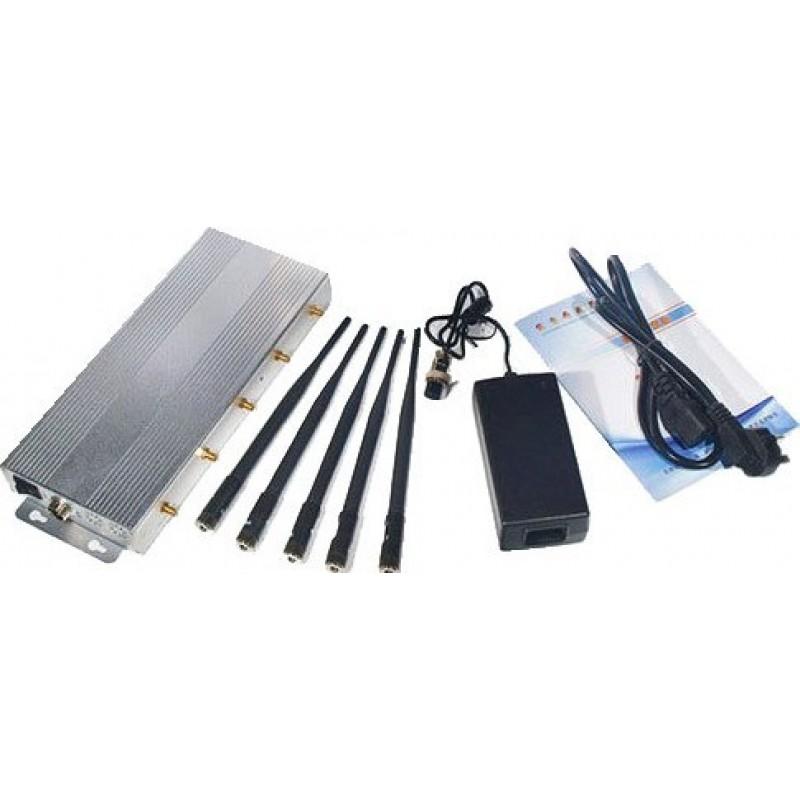 Bloqueurs de Téléphones Mobiles 5 bandes. Bloqueur de signal 10W GSM