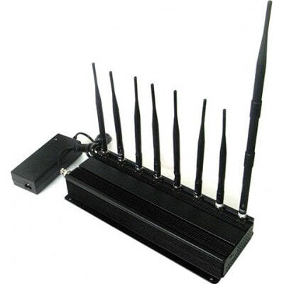 手机干扰器 8个乐队。高功率信号阻断器 3G