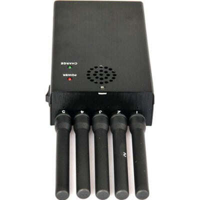 Alle Frequenz tragbarer Signalblocker. 5 leistungsstarke Antennen