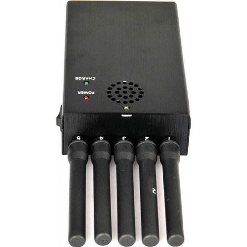 Handy-Störsender Alle Frequenz tragbarer Signalblocker. 5 leistungsstarke Antennen 3G Portable
