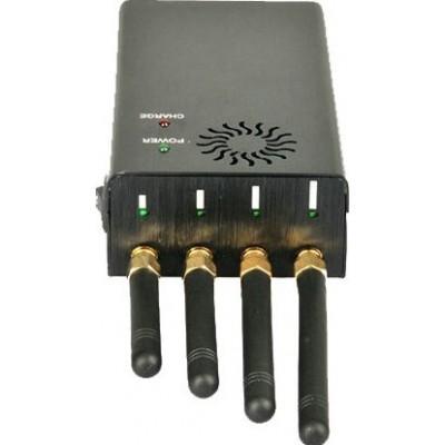 109,95 € Envío gratis | Bloqueadores de Teléfono Móvil 4 bandas Bloqueador de señal de mano 3G Handheld