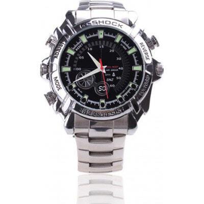 49,95 € Бесплатная доставка | Шпионские наручные часы Инфракрасная HD Водонепроницаемая шпионская камера. Мини цифровой видеомагнитофон (DVR) 8 Gb 1080P Full HD