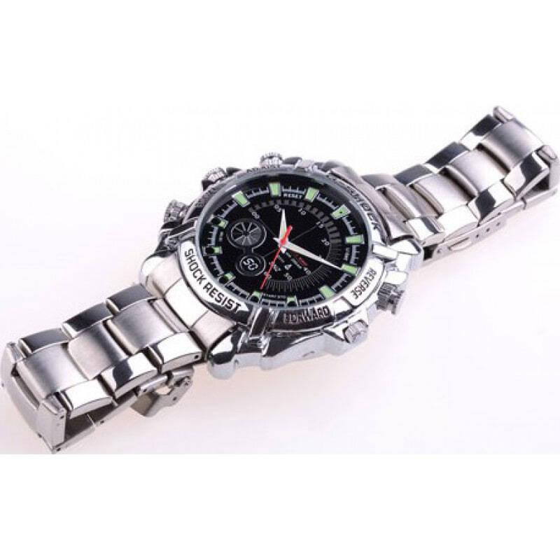 49,95 € Бесплатная доставка   Шпионские наручные часы Инфракрасная HD Водонепроницаемая шпионская камера. Мини цифровой видеомагнитофон (DVR) 8 Gb 1080P Full HD