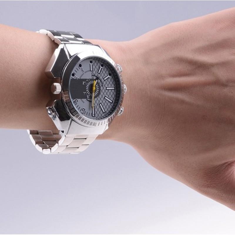 49,95 € Kostenloser Versand   Armbanduhren mit versteckten Kameras Infrarot HD Wasserdichte Spionagekamera. Mini Digital Video Recorder (DVR) 8 Gb 1080P Full HD