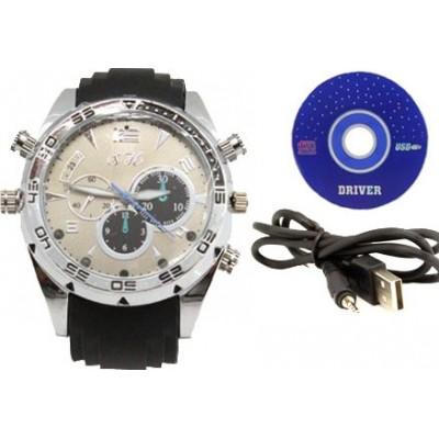 49,95 € Envio grátis | Relógios de Pulso Espiã Câmera infravermelha espiã HD impermeável. Mini gravador de vídeo digital (DVR) 8 Gb 1080P Full HD