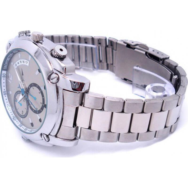 46,95 € Бесплатная доставка   Шпионские наручные часы Шпионские часы. Устройство охранного наблюдения. Шпионская камера. Цифровой видеорегистратор (DVR). ИК инфракрасное ночное виден 8 Gb 1080P Full HD