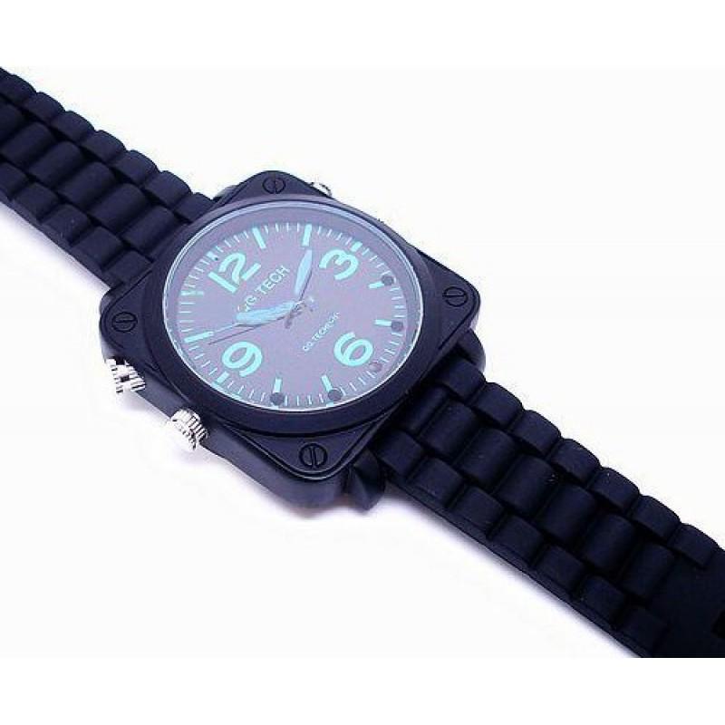 63,95 € Envio grátis | Relógios de Pulso Espiã Relogio espião. Câmera infravermelha de visão noturna infravermelha. À prova d'água. Som ativado. Cinto de couro. Gravador de ví 8 Gb 1080P Full HD