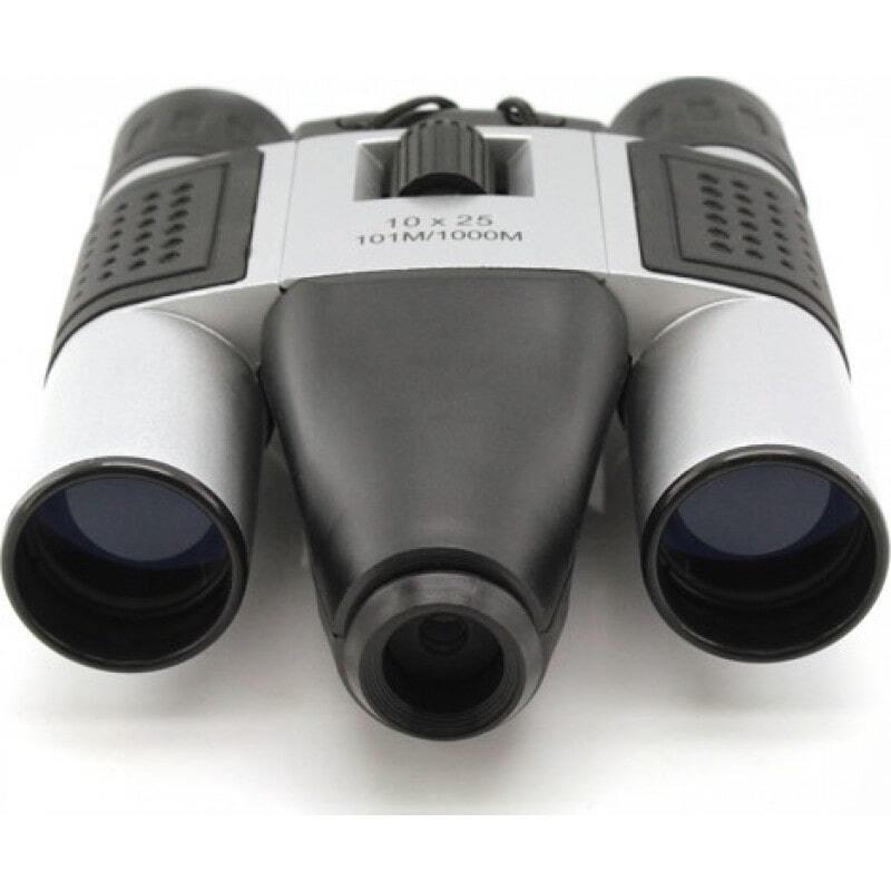 Gadgets Espiões Ocultos Câmera digital binocular. Zoom 10x. 1,3 MP. Slot para cartão TF. Binóculos