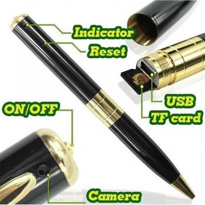 26,95 € Free Shipping | Pen Hidden Cameras Spy pen. Hidden camera. Digital video recorder (DVR). Spy camcorder. 30 FPS 480P HD