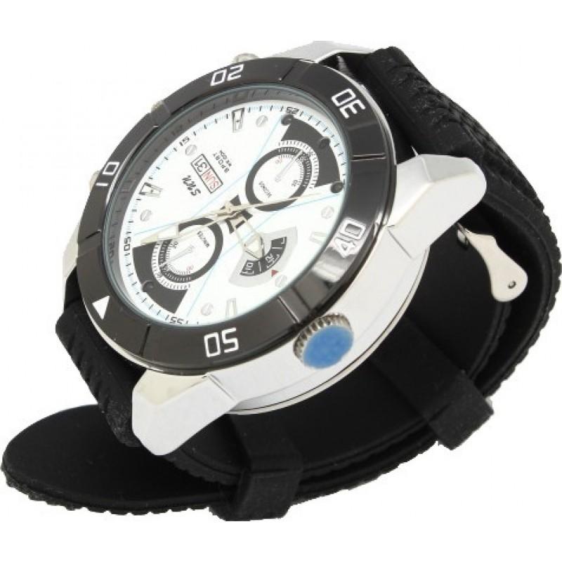 Шпионские наручные часы Шпионские камеры смотреть. Цифровой видеорегистратор (DVR). Батарея 500мА. Автоматическая ИК ночного видения. Слот для TF-карты 720P HD