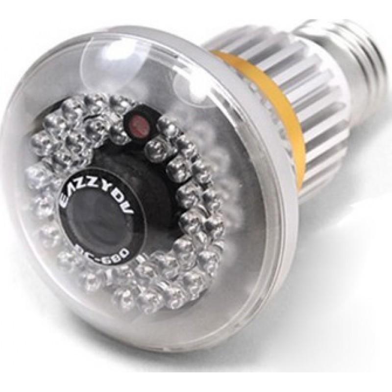 96,95 € Envoi gratuit | Autres Caméras Espion capteur CMOS 1/4 . Ampoule visible de nuit. Caméra de vidéosurveillance. LED IR de 36pcs. Vision nocturne. Fonction de détectio