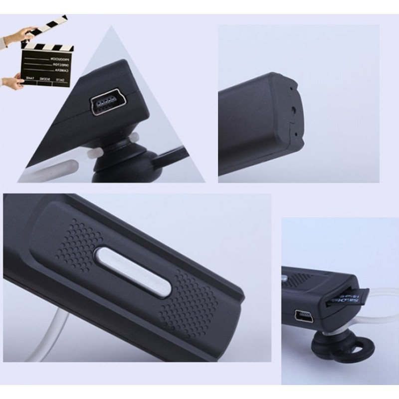 45,95 € Free Shipping | Other Hidden Cameras Multifunctional spy bluetooth earphone. Headset Shaped mini hidden camera. Digital video recorder (DVR). Motion detection. 10m O 720P HD