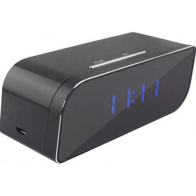 58,95 € Envío gratis | Relojes Espía Reloj despertador espía. Cámara oculta. Gran angular 160 grados. Visión infrarroja infrarroja nocturna. Grabador DVR. H264/ WiFi 720P HD