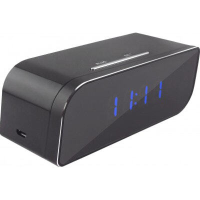 58,95 € Бесплатная доставка | Шпионские часы Шпионский будильник. Скрытая камера. 160 градусов широкий угол. ИК инфракрасное ночное видение. Цифровой видеорегистратор (DVR) 720P HD