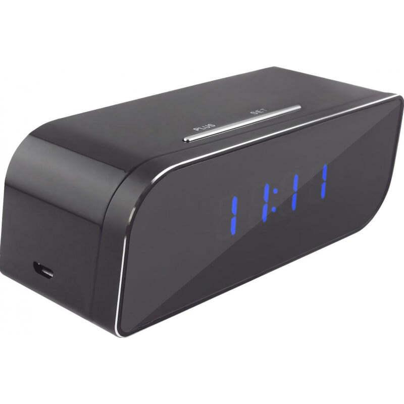58,95 € Free Shipping | Clock Hidden Cameras Spy alarm clock. Hidden camera. 160 Degree wide angle. IR Infrared night vision. Digital video recorder (DVR). H264/WiFi/IP. iPh 720P HD