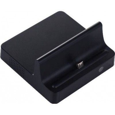 Mobile phone dock charger with hidden camera. Micro USB Port. Remote controller 720P HD