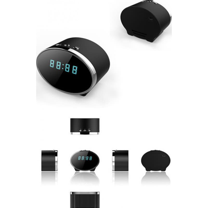 Clock Hidden Cameras 140 Degree digital spy clock. Alarm function. Hidden digital video recorder (DVR). WiFi. Motion detection. Spy clock camera. 5.0 1080P Full HD