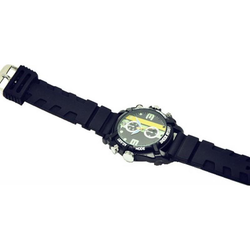 Watch Hidden Cameras Waterproof sport camera watch. Hidden security camera. Audio/Video recorder. Mini DVR sports watch. IR Night vision 8 Gb 1080P Full HD
