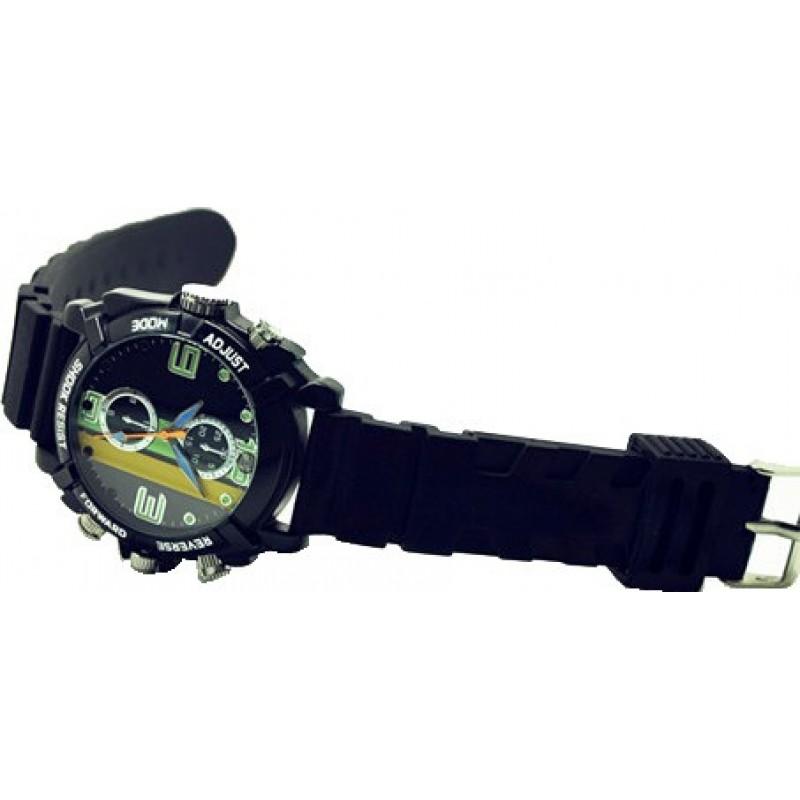 Relojes de Pulsera Espía Reloj deportivo con cámara resistente al agua. Cámara de seguridad oculta. Grabador de audio / video. Mini reloj deportivo DVR 8 Gb 1080P Full HD