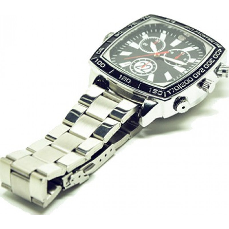 Relógios de Pulso Espiã Relógio de câmera esporte impermeável. Câmera de segurança escondida. Gravador de áudio / vídeo. Mini relógio esportivo DVR. Vis 8 Gb 1080P Full HD