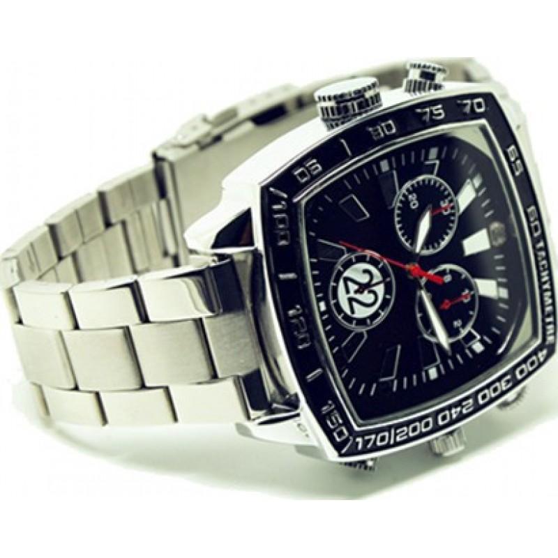 Шпионские наручные часы Водонепроницаемые спортивные часы с камерой. Скрытая камера видеонаблюдения. Аудио / Видео рекордер. Мини DVR спортивные часы. И 8 Gb 1080P Full HD