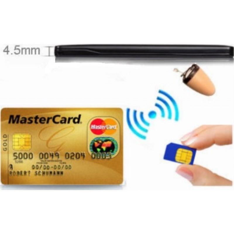 66,95 € 免费送货   信号探测器 双向谈话。带有GSM ID卡发射器的隐形耳机