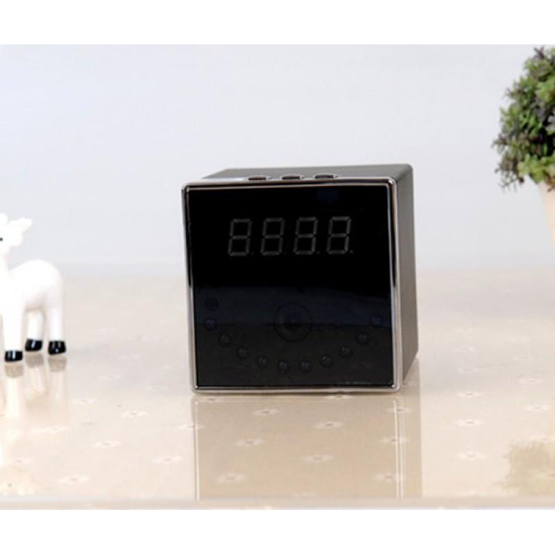 Шпионские часы Охранный будильник скрытой камеры. Камера шпионских часов. Дистанционное управление. Вай-фай. Поддержка Android / IOS / H264 1080P Full HD