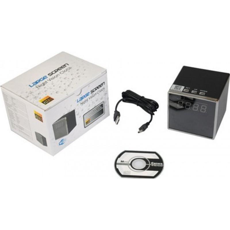 Uhr versteckte Kameras Sicherheitswecker versteckte Kamera. Spion Uhrenkamera. Fernbedienung. W-lan. Unterstützung Android / IOS / H264 1080P Full HD